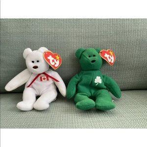 McDonald's Mini Beanie Babies World Bears Set of2
